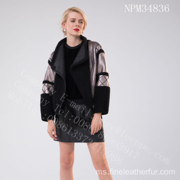 Pendek Sepanyol Merino Shearling Jacket For Lady