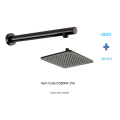 Conjunto de cabezal de ducha Gun Metal Shower Arm Plus