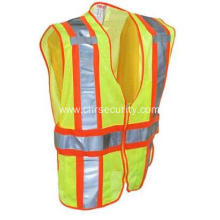 Unisex Lime Green High-Visibility Adjustable Safety Vest
