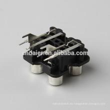 Conector impermeable de la venta rca / enchufe del micrófono al enchufe del rca / zócalo de RCA AV