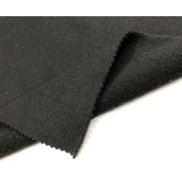 Heißer Verkauf T / C French Black KnittingTerry Brushed Fabric