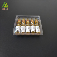 Klarer Wegwerfplastik 5 Ampullen-Behälter