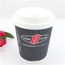 Disposable Cheap Coffee Paper Cup with PS Lid