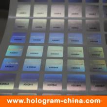 Etiqueta engomada del holograma del número de serie del negro 2D / 3D del laser 3D