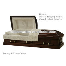 DH-014 solid mahogany casket private plans fashion modeling