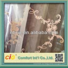 Cortina de lino bordada en China