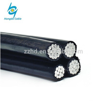 Duplex abc cable three cores aerial bundled cable wires