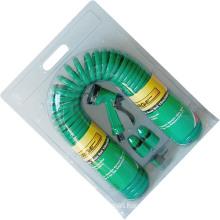 15m (50′) Durable Spiral PU Garden Air Hose Coil Hose Set
