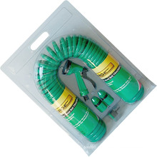Conjunto de mangueira de bobina espiral durável com mangueira de ar de jardim PU 15 m (50)