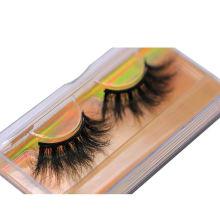 SL027H Hitomi Mink Lashes Custom Eyelash Packaging soft natural mink eyelashes Fluffy 25mm Magnetic Mink Eyelashes
