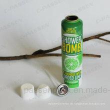 Aluminium Körperpflege Spray Aerosol Flasche mit geformten Körper (PPC-AAC-008)
