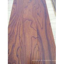 Exquisito parquet cepillado color olmo diseñado pisos de madera