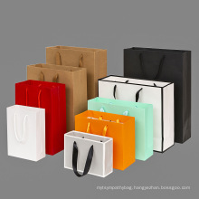 Eco-friendly Wholesale Custom Printed Thickened Gift Shopping Kraft Paper Tote Bag With Your Own Logo