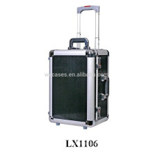 Black strong&portable aluminum travel luggage wholesale from China factory