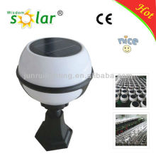 bola branca de luz solar jardim, luz de pilar de cogumelo jardim luz solar, energia solar