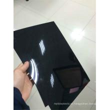 Filme rígido de alto brilho do PVC do preto da folha do PVC para Thermoforming