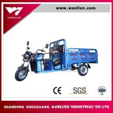 Triciclo eléctrico de la caja del cargo de la granja 650W
