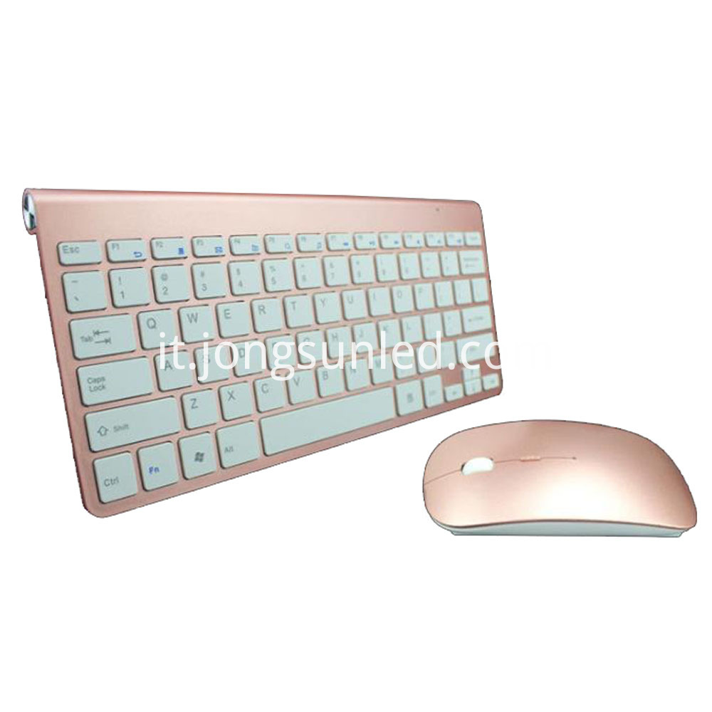 Rose Gold Mouse Keyboard 1