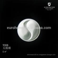 T008 ChaoZhou vajilla de restaurante Divided porcelana soja plato 80 mm