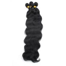 preiswertes rohes unverarbeitetes Großhandels-jungfräuliches indisches Haar Jungfrau-Menschenhaar-Körperwelle