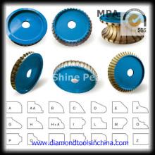 Rodas de perfil de diamante para pedra
