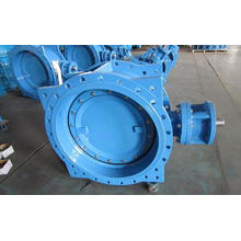 Double Eccentric Double Flange Butterfly Valve, Series13/14, Bare Stem with Top Flange ISO5211 for Actuator