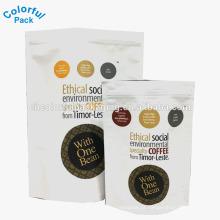 250g de café torrado saco de café saco de embalagem com entalhe rasgo