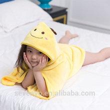 Wrap en jaune 100% bambou serviette avec capuche Smile aniaml visage Boys & Girls bébé serviette de bain Taille pour nouveau-né et infand et t