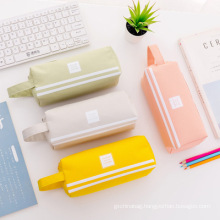 Custom Wholesale Promotional gifts simple large - capacity Pen Pencil Case double layer Stationery Bag