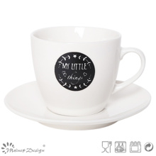 Blanco y negro New Bone China Tea Cup & Saucer