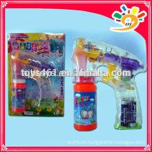 Transparente Blase Pistole, Funny Friction Bubble Gun Spielzeug, Blinkende Blase Pistole für Kinder mit Blase Wasser