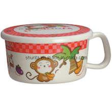 100% Melamine Tableware-Kid′s Mug W/ Cover Household Tableware Heat Resistant/Melamine Tableware (BG621S)