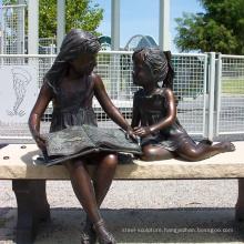 Bronze Girl Reading Statue