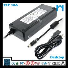 Alimentation du transformateur 12 volts, alimentation 12v 10 ampères UL CUL CE FCC GS SAA C-tick KCC 120W