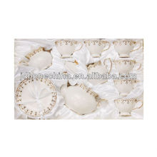 new arrival heavy gold Middle East royal fine bone china coffee cup set