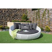 Elegante diseño espléndido sintético Poly Rattan Sunbed o Daybed para el jardín al aire libre piscina Resort Resort Muebles de mimbre