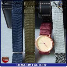 YXL-169 Hottest Perlon montre bracelet hommes dames montre-bracelet bande bande de Perlon montre bracelet usine d'OEM moins cher