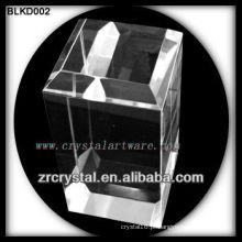 K9 bloco de cristal em branco para gravação a laser 3D BLKD002