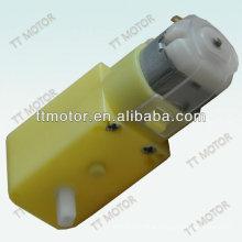 Plastic 3v dc low rpm gear motor