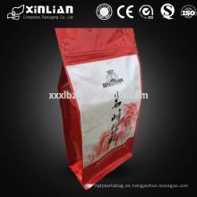 Bolsa de embalaje de alimentos secos de fondo plano con cremallera / papel de aluminio ziplock bolsa de envasado de alimentos secos