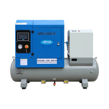10hp 7.5kw Small Direct Drive All-in-one Combined Screw Air Compressor With Air Tank Air Dryer