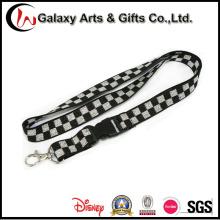 Linga de cabo elástico único poliéster preto e branco promoção personalizada