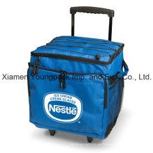 Promocional personalizado impreso plegable 48-puede aislados Trolley Cooler