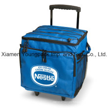 Promotional Custom Printed Collapsible 48-Can Insulated Trolley Cooler