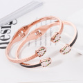Ladies Personalized Rose Gold Snake Cuff Bracelet