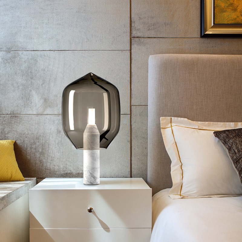 Clear Grey Bedside LightsofApplication Small Tall Lamp Table