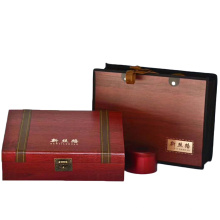 Piel sintética Papel madera para caja de té