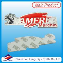 Decoración de aleación de zinc adorno emblema adhesivo cromo brillo personalizado emblema