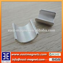N50 gesinterter Neodym-Motor-Magnet Nickelüberzug / Bogenformmagnet für Verkauf