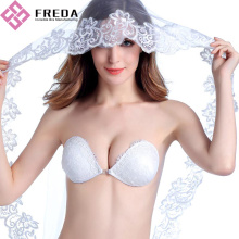 White Lace backless Push Up Bra